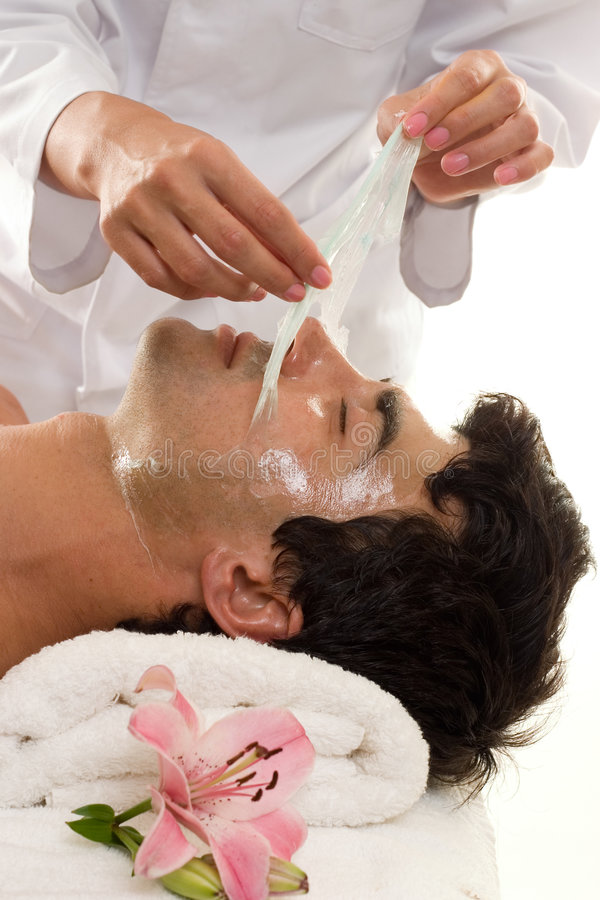 Facial Peel stock photos