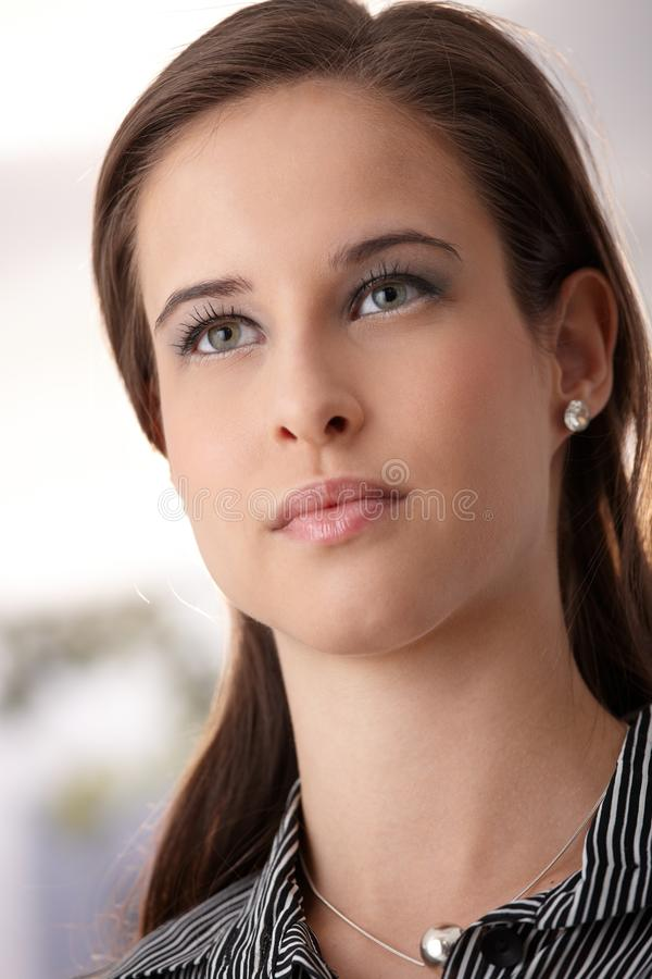 Facial Portrait Of Young Beauty Stock Image