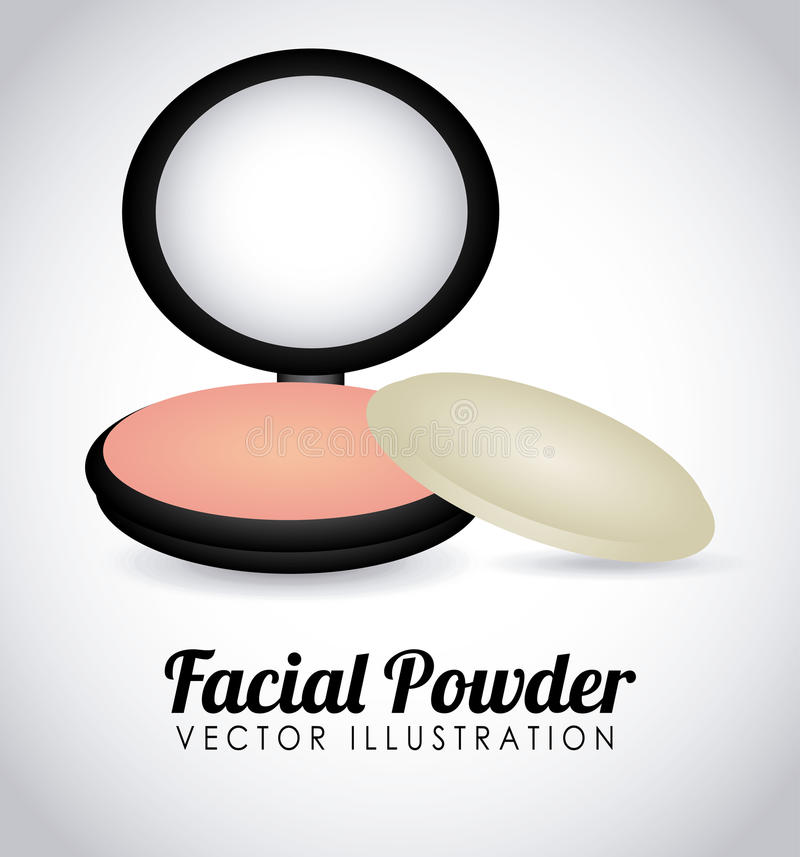 Facial powder. Design, illustration eps10 graphic royalty free illustration