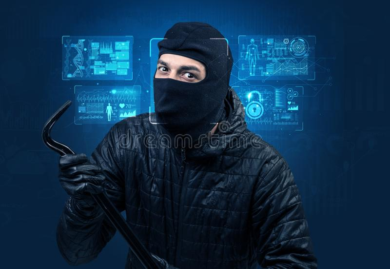 Facial Recognition System concept stock image