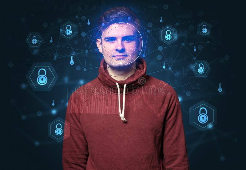 Facial security recognition concept royalty free stock image