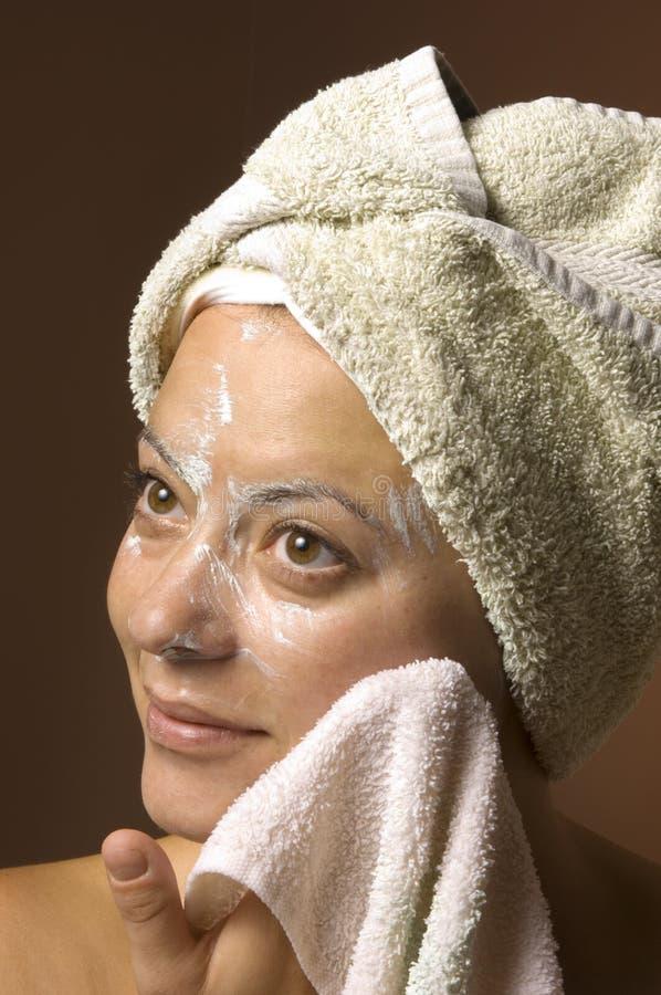 Facial Skincare dos termas fotografia de stock royalty free