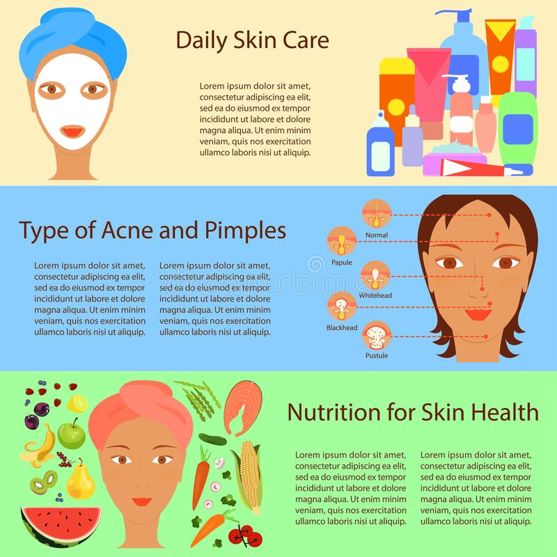 Facial treatment flyer vector illustration