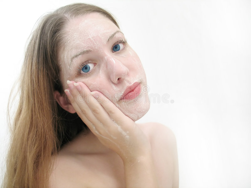 Facial Wash stock photography