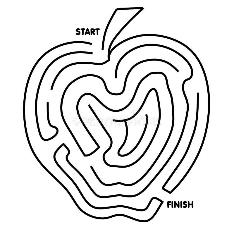 Facile risolvere il labirinto del Apple royalty illustrazione gratis