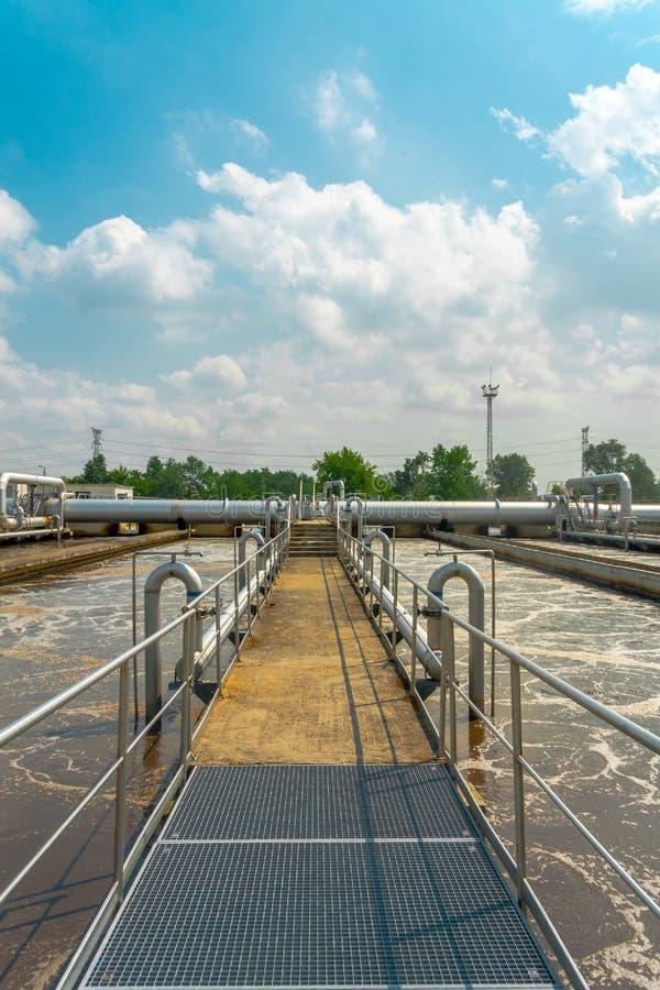 Facilidade da limpeza da água fotografia de stock