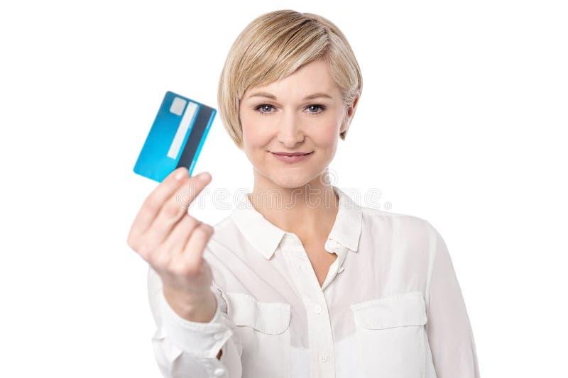 Facilidade da loja com cartão de crédito foto de stock royalty free