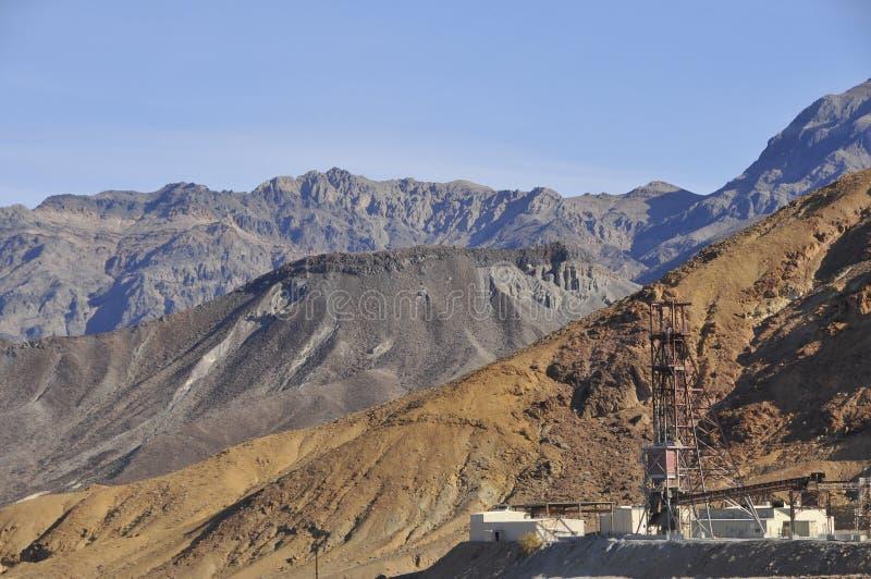 Facilidade da mineração em Death Valley foto de stock royalty free