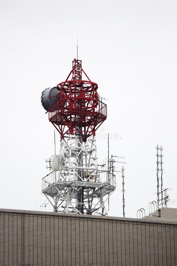 Facilidade das torres de rádio foto de stock royalty free