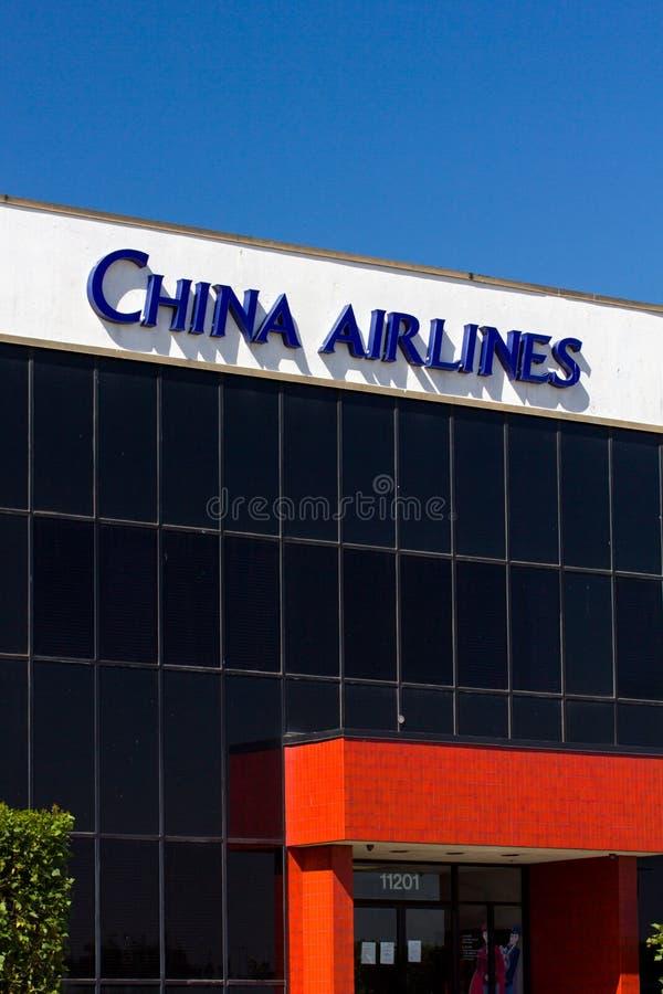 Facilidade de China Airlines imagem de stock