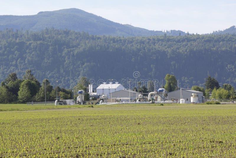 Facilidade do gás natural fotos de stock