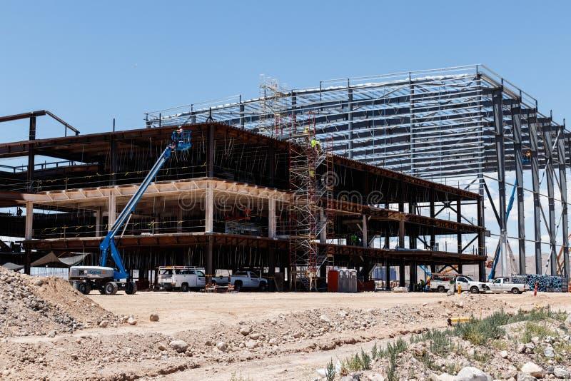 Facilidade nova da prática dos incursores Os incursores começam o jogo em Las Vegas em 2020 III foto de stock