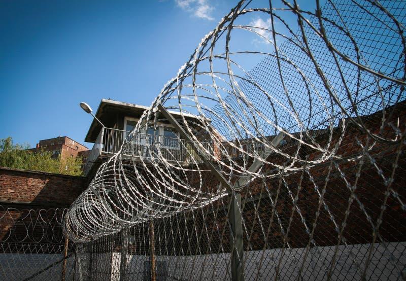 Facilidades da segurança da prisão fotos de stock