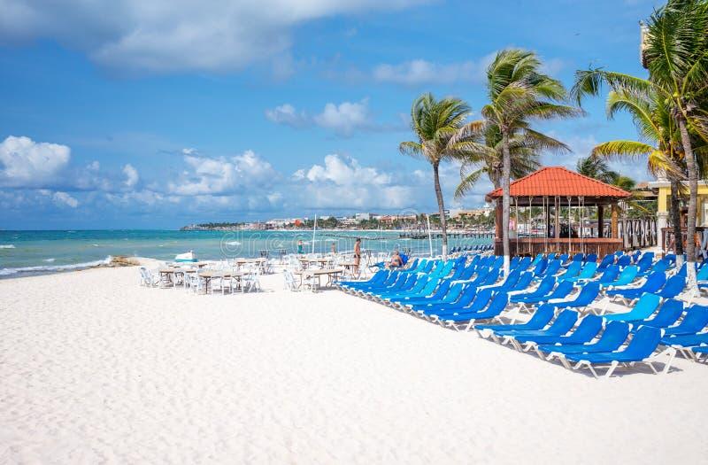 Facilidades de turista e natureza de Playa Del Carmen imagens de stock
