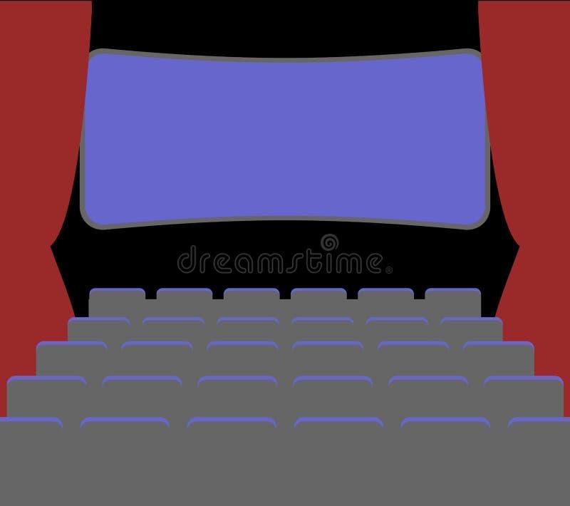 Facilidades e cadeiras do cinema casa de filme palácio de imagem pictu ilustração royalty free