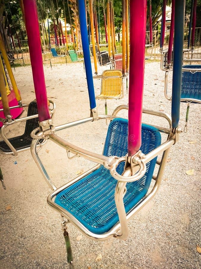 Facilità del parco di divertimenti carosello fotografia stock libera da diritti