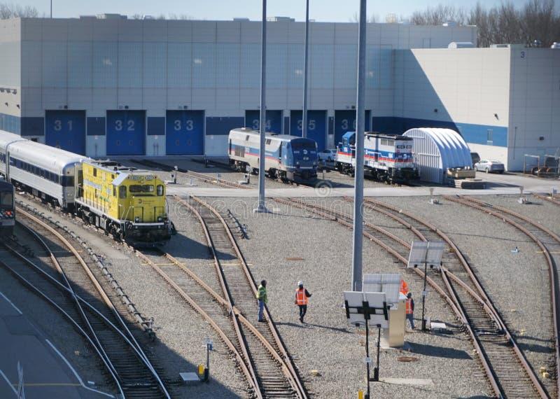 Facilità di manutenzione di Harmon del Croton del MTA di sabato mattina immagini stock libere da diritti