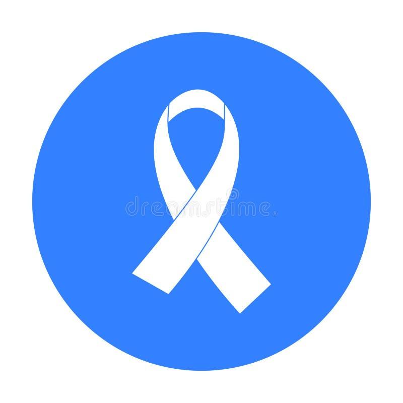 FACILITE l'icône de ruban dans le style noir d'isolement sur le fond blanc Dope l'illustration courante de vecteur de symbole illustration stock