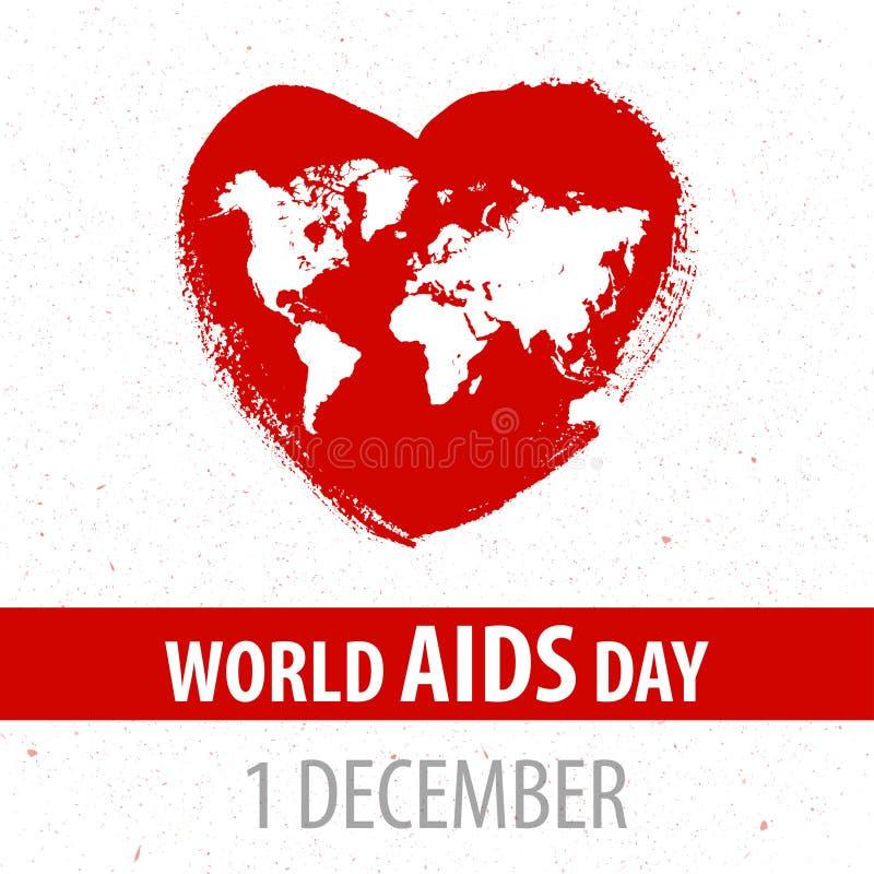 Facilite le fond de ruban de conscience 1er décembre - jour du monde Illustration de vecteur images libres de droits