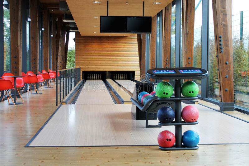 Facilities for bowling royalty free stock photography