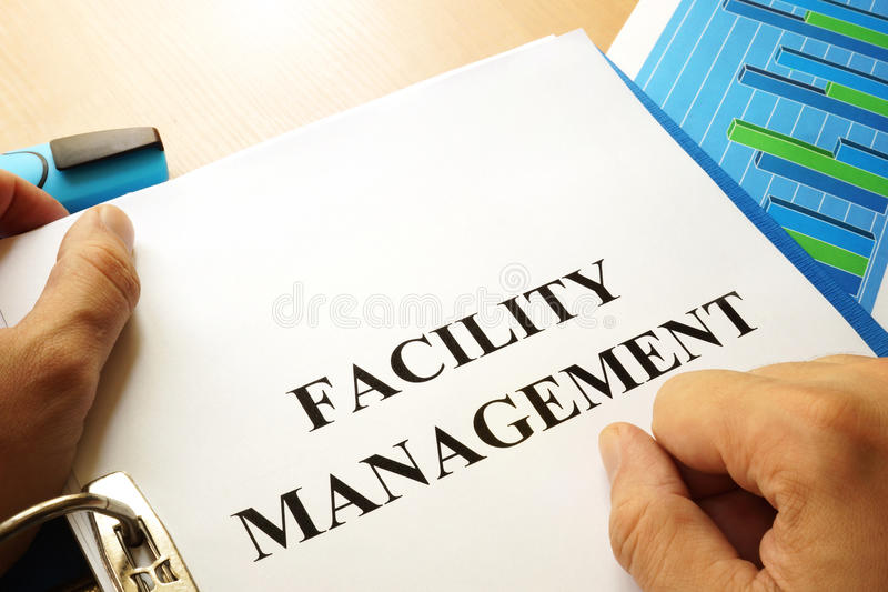 Facility Management. Folder with title Facility Management stock photos