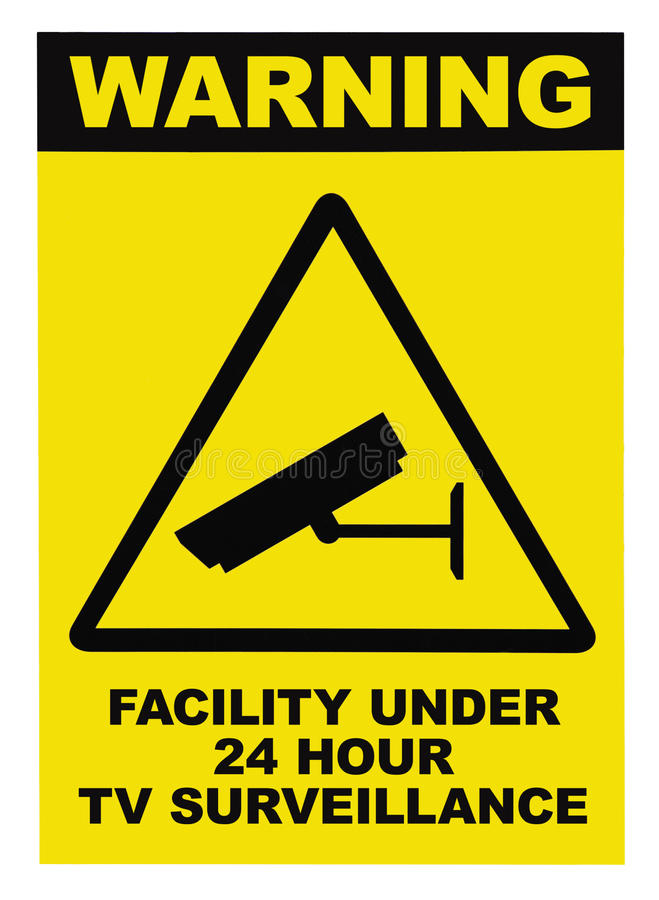 Free Facility Protected By Video Surveillance Text Sign Stock Images - 17922914