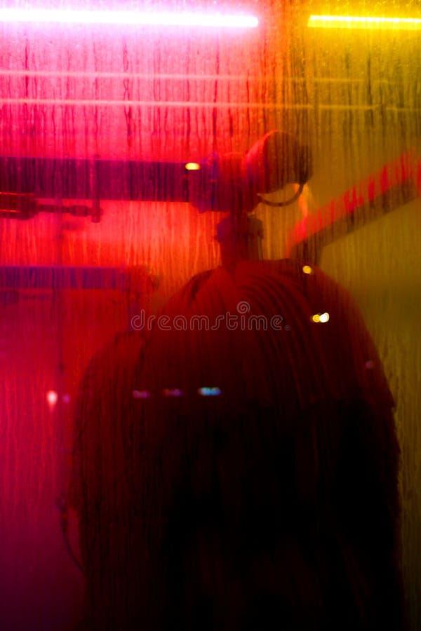 FacillityROOD van de autowasserette royalty-vrije stock afbeelding