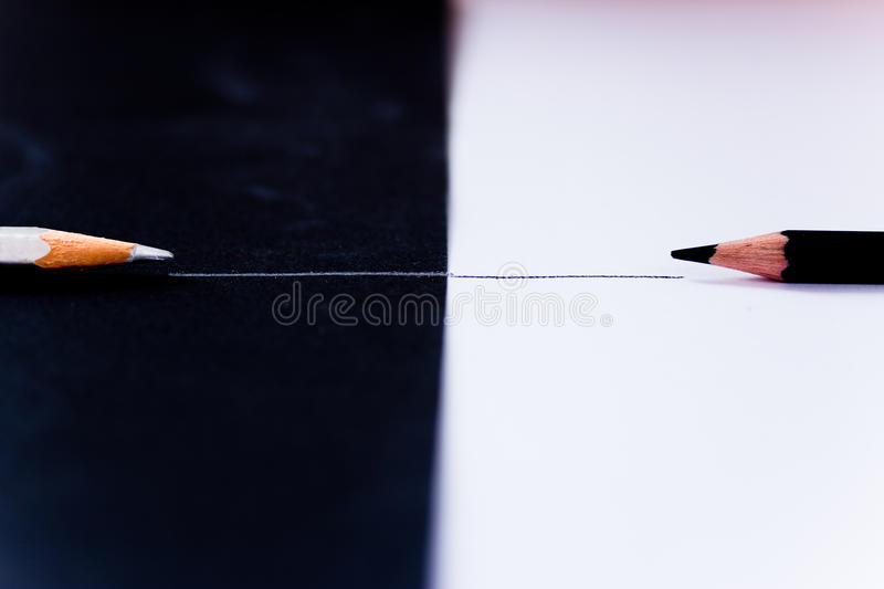 Download Facing Black White Pencils, Competition Metaphor Stock Photo - Image: 23116586