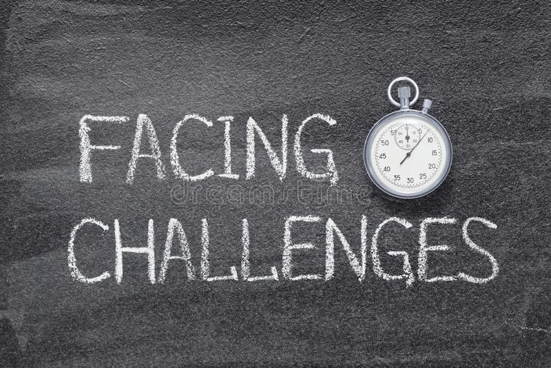 Facing challenges watch royalty free stock photos