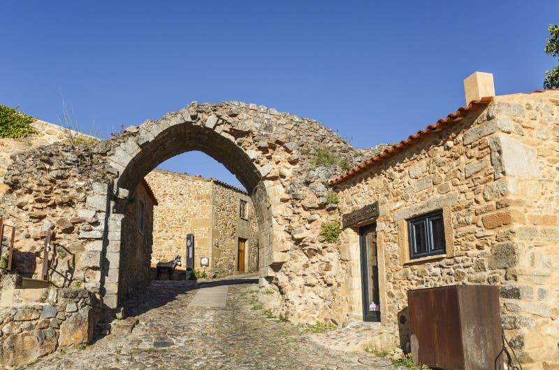 Castelo Rodrigo – Sun Gate stock images