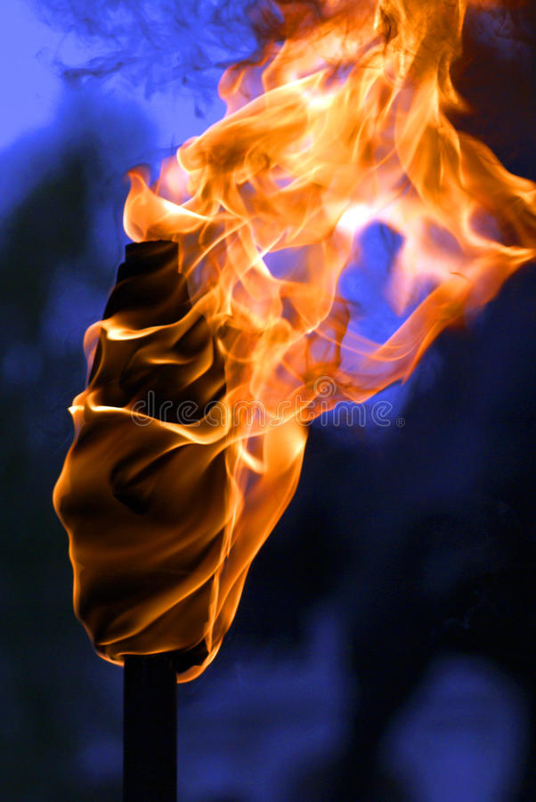 Download Fackel stockfoto. Bild von orange, zunge, schön, schwärzung - 12200060