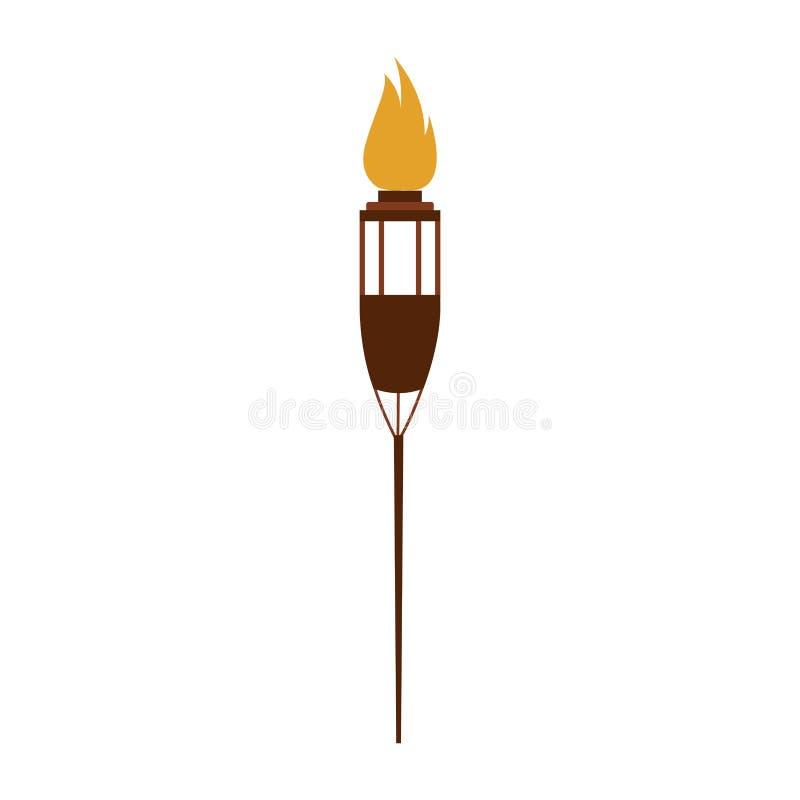 Fackel auf dem Feuer lokalisiert stock abbildung