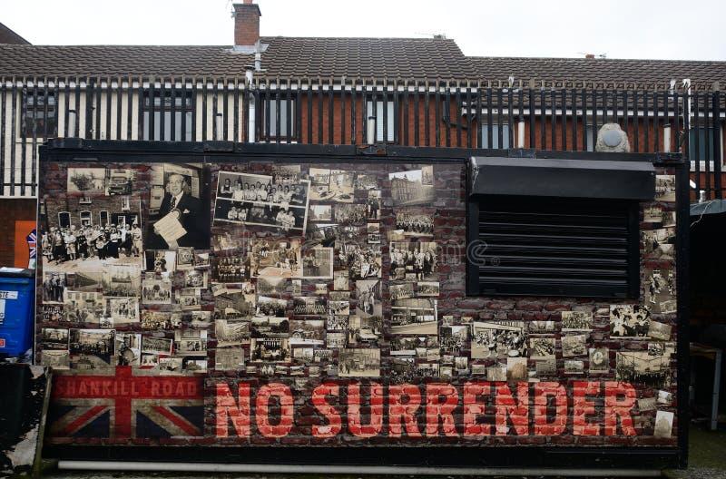 Fackföreningsmedlemväggmålning, Belfast som är nordlig - Irland royaltyfri foto