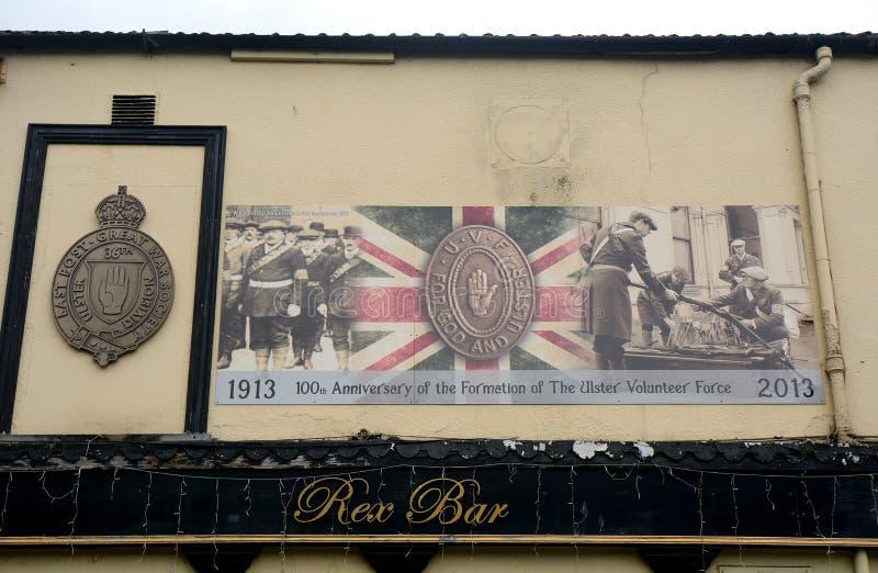 Fackföreningsmedlemväggmålning, Belfast som är nordlig - Irland royaltyfria foton
