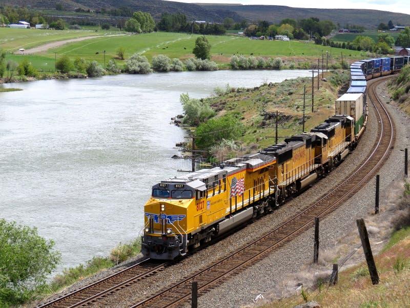 Facklig Stillahavs- järnväg royaltyfria bilder