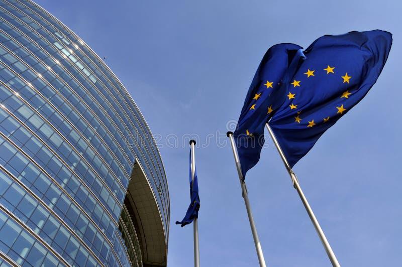 fackliga europeiska flaggor arkivfoton