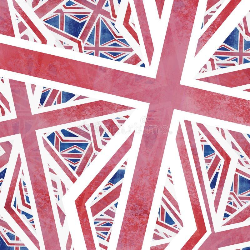Fackliga Jack Flag Collage Abstract royaltyfri illustrationer