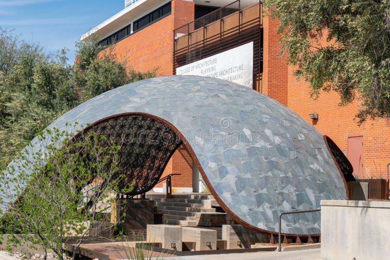 Facoltà di architettura e paesaggio all'università dell'Arizona immagini stock libere da diritti