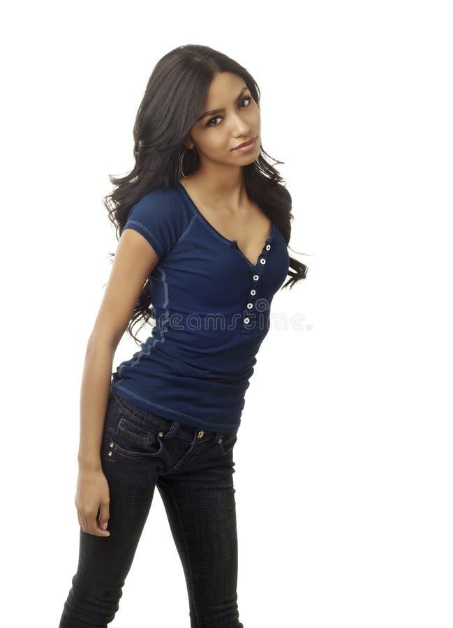 Facr der schönen jungen exotischen Frau lizenzfreies stockbild