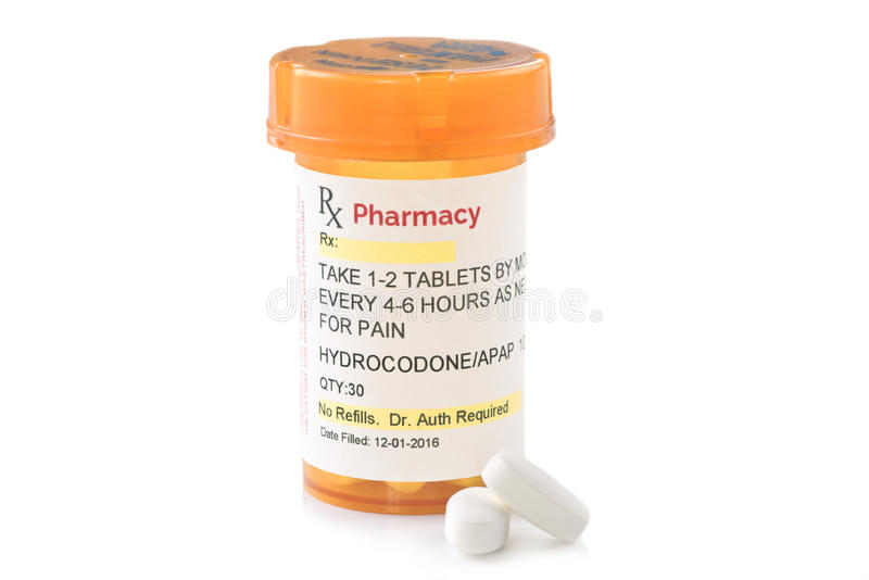 Facsimile Hydrocodone Prescription royalty free stock photos