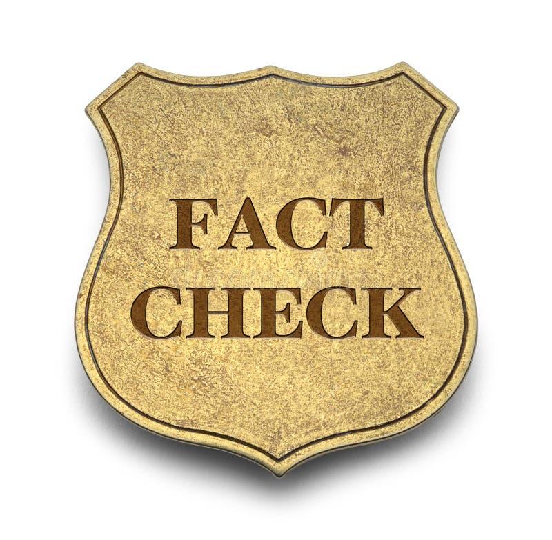 Fact czek ilustracja wektor