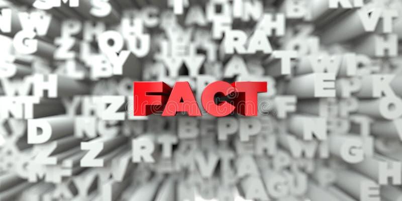 FACT - Czerwony tekst na typografii tle - 3D odpłacający się królewskość bezpłatny akcyjny wizerunek royalty ilustracja