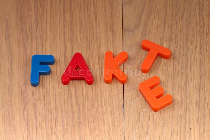 Fact or Fake. Concept. Words are made of plastic letters royalty free stock photos