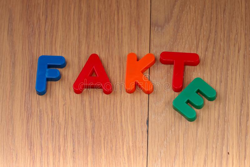 Fact or Fake. Concept. Words are made of plastic letters stock images