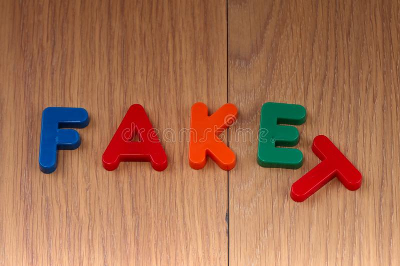 Fact or Fake. Concept. Words are made of plastic letters royalty free stock image