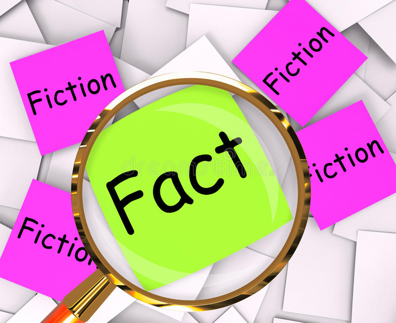 Download Fact Fiction Post-It Papers Mean Truth Or Myth Stock Illustration - Illustration of lies, untruth: 41253941