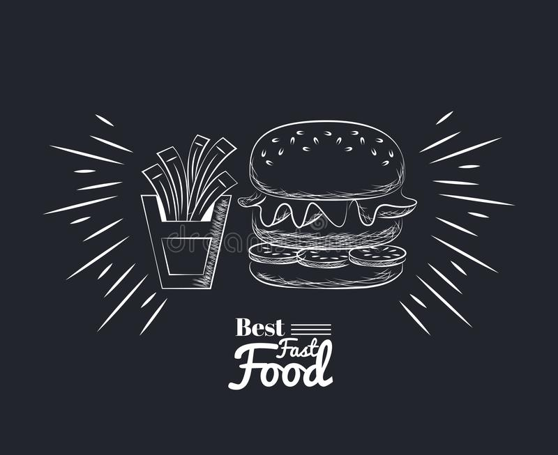 Fact food icons vector illustration