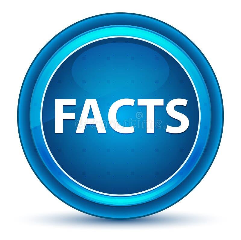 Fact gałki ocznej Round Błękitny guzik ilustracja wektor