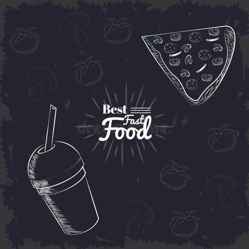 Fact jedzenia ikony ilustracji