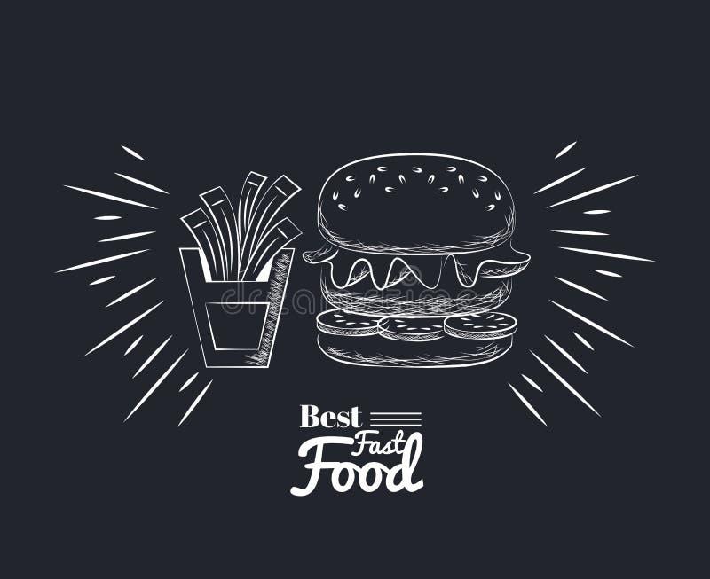 Fact jedzenia ikony ilustracja wektor